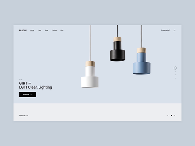 Elson - Animated Slider contemporary urban furniture shop minimalism minimal flat animation website web ux ui design