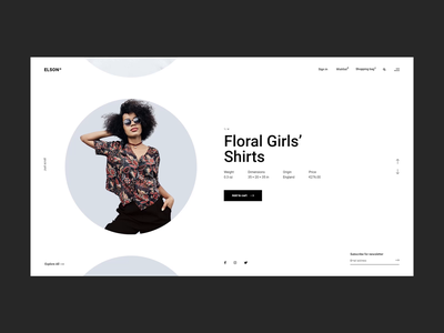 Elson - Round Product Slider contemporary urban shop fashion minimalism creative website minimal flat animation web typography branding design ux ui