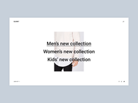 Elson - Interactive Categories fashion contemporary urban shop minimalism website minimal flat animation typogaphy web ux ui branding design