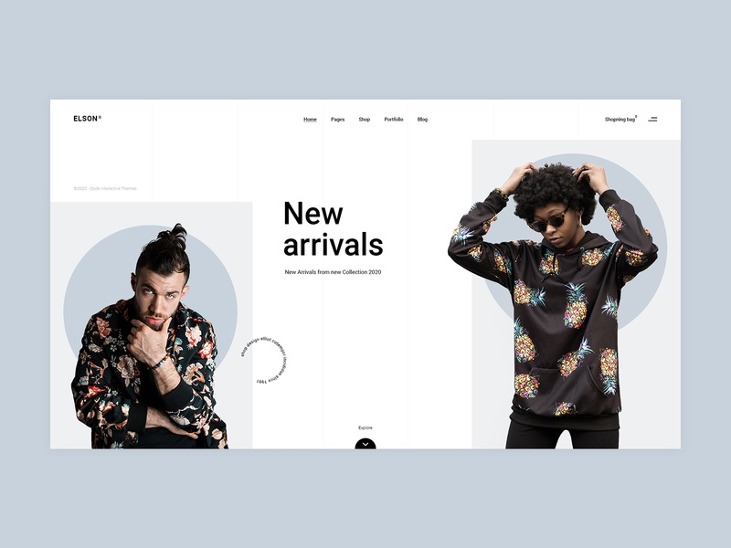 Elson - Main Home urban shop fashion contemporary design typography branding minimalism minimal flat website web ux ui
