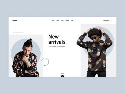 Elson - Main Home urban shop fashion contemporary design typography branding minimalism minimal flat website web ux ui