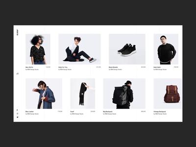 Elson - Horizontal Showcase urban shop fashion contemporary branding animation minimalism minimal design flat website web ux ui