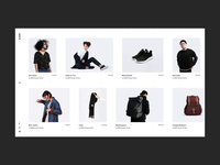 Elson - Horizontal Showcase urban shop fashion contemporary branding animation minimalism minimal design flat website web ux ui