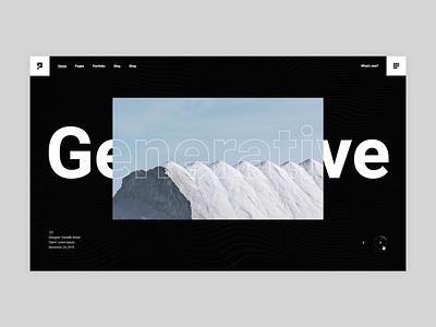 Pearce - Main Home blod typography portfolio branding creative animation minimalism minimal design flat website web ux ui