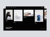 Pearce - Horizontal Portfolio agency bold portfolio branding creative animation minimalism minimal design flat website web ux ui