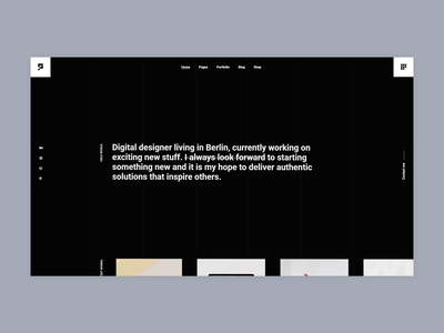 Pearce - Designer Portfolio bold agency portfolio branding creative animation minimalism minimal design flat website web ux ui