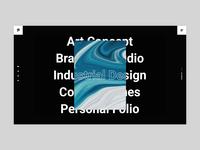 Pearce - Interactive Showcase typography agency bold portfolio branding creative animation minimalism minimal design flat website web ux ui