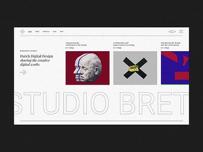 Horizontal Portfolio brutalist design brutalist brutalism brutal illustraion typography agency portfolio branding creative animation minimalism minimal design flat website web ux ui