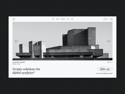 Passepartout Slider brutalist design brutalist brutalism brutal typogaphy agency portfolio branding creative minimalism minimal design flat website web ux ui