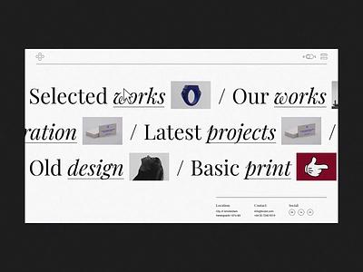 Interactive Project Scroll brutalist design brutalist brutalism brutal typogaphy agency portfolio branding creative animation minimalism minimal design flat website web ux ui