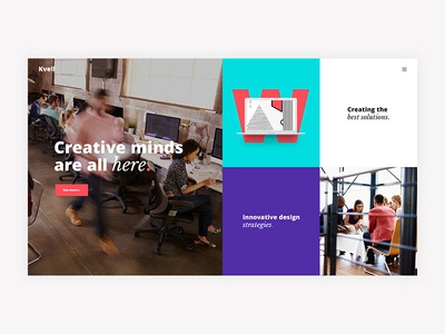Kvell - A Creative Multipurpose Theme colorful color minimalism minimal bold agency wordpress creative website flat web typography branding ux ui design