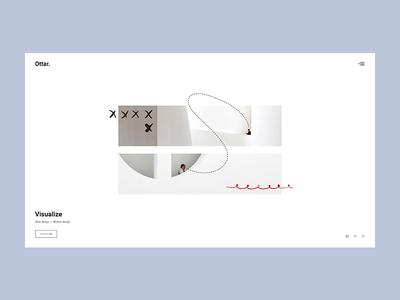 Ottar - Horizontal Projects portfolio illustration minimalism animation minimal flat design creative wordpress website web ux ui