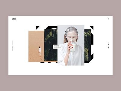 Manon - Stacked Portfolio portfolio minimalism animation minimal flat creative wordpress website web ux ui design