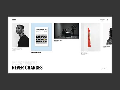 Manon - Horizontal Portfolio portfolio art color agency typography bold minimalism minimal flat design creative wordpress website web ux ui