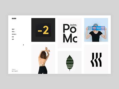 Manon - Alternating Portfolio portfolio art color agency bold animation minimalism minimal flat design creative wordpress website web ux ui