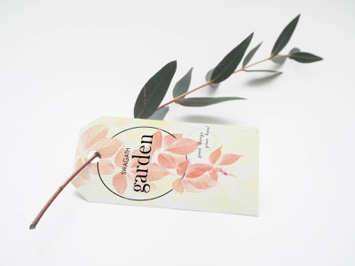 garden name card branding logo vector simple design
