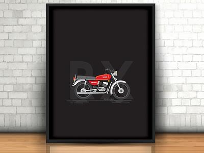 Motorcycle illustration app black ui bike logo branding vector illustration simple design