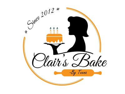 Logo For cake shop black and yellow pastry cake bake cake shop icon logo branding vector illustration simple design