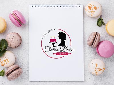 Bakery logo cake shop cake pastry logo icon branding vector illustration simple design
