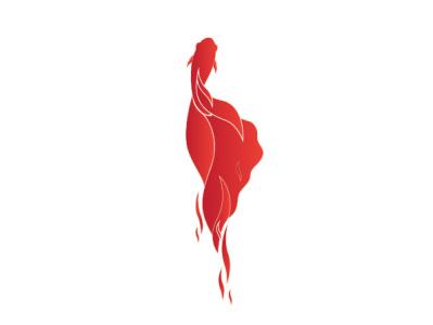Betafish illustration inkoctober app illustrator ui minimal red icon logo fighter beta fish web ux branding vector illustration simple design