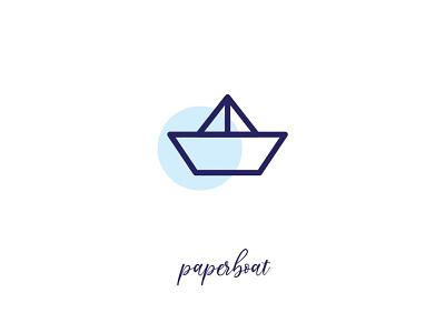paper boat paperboat icon design paper boat ui app icon logo branding vector illustration simple design