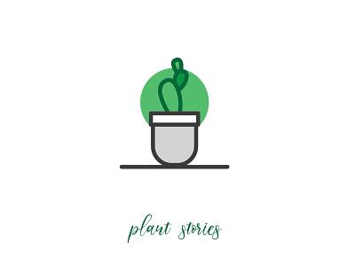 Plant icons cactus plants logo icon web vector branding illustration simple design plant icons