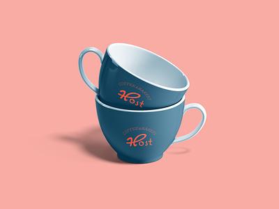 Host Coffee & Bakery Cup Design logo grafik tasarım sanat behance linkedin istanbul bakery coffee design cup