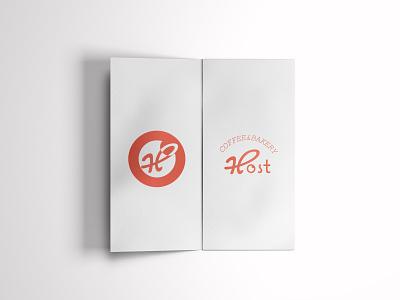 HOST COFFEE & BAKERY BROCHURE vector blogger illustration marketing logo tipografi yaratıcı bulut behance