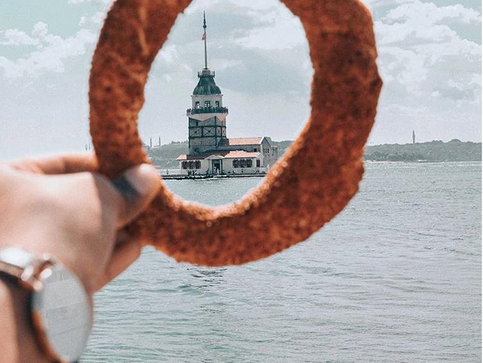 Kız kulesi yaratıcı bulut sanat followme danielwellington bagel vsco behance photography instagram istanbul kızkulesi