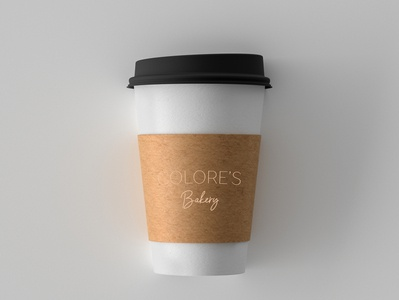 COLORE'S Bakery Coffee Cup