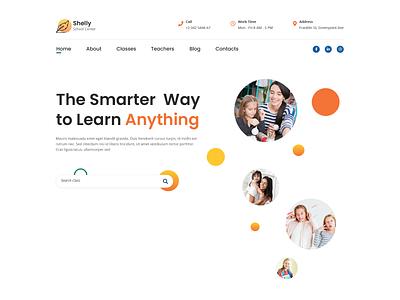 Shelly – School Website Design university education school typography flat web design ux