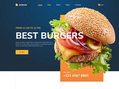 Burgos – Street Food Website Design burger street food food designs ui design merkulove ux ui  ux