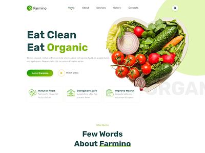 Farmino – Organic Food Website Design merkulove farmino fruits organic food food organic farm graphic design motion graphics animation