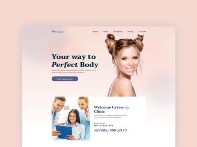 Feanty Beauty Clinic beauty shop beauty salon cosmetics skincare skin wellness beauty website cosmetics store salon spa clinic beauty merkulove graphic design animation