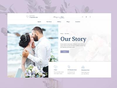 Lovedy - Wedding Site Design ceremony story rsvp invitation event motion graphics graphic design ui animation couple bride wedding day special day wedding merkulove