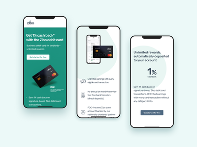 Landing page for a debit card promotion ux  ui debit card bankingapp banking website banking landing page landing page design landingpage website design