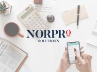 NORPRO SOLUTIONS LOGO DESIGN