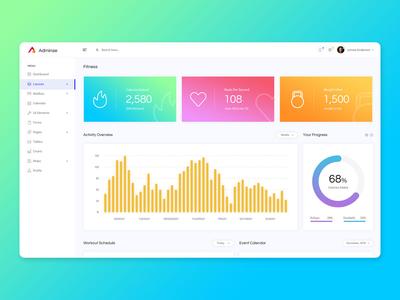Fitness Admin Dashboard UI Kit