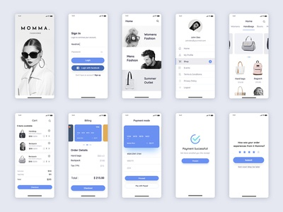 Minimal Shopping Mobile App UI Design