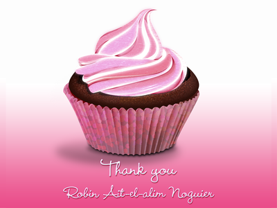 Pink CupCake dribbble invitation thank you cup cake pink draft