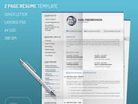 Resume template for UI Designer