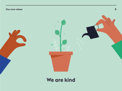 Zone Values Poster – We Are Kind