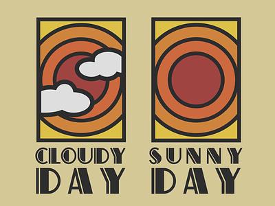 Sunny Day Cloudy Day logo sun illustration contour landscape sunnyday clouds sun aaron draplin typography luxembourg illustrator cologne grafikdesign illustration salentiny mikasalentiny