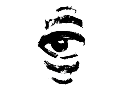 Fingerprint Eye face eyelogo logo cologne luxembourg brush ink inked blackink brushpen illustrator seeing mythology horus salentiny mikasalentiny fingerprint eyeballs eye eyeflow