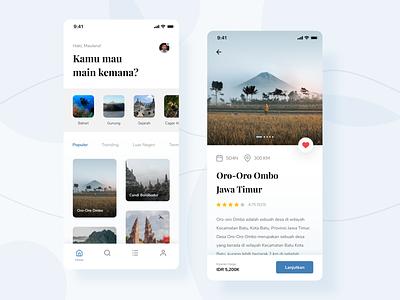 Travel App - Exploration travel travel app uiux ui clean userinterface uiuxdesign uidesigner uidesign