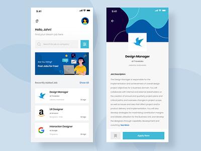 Job-Search App - Exploration job search job application job job finder uiux design uiuxdesigner uiux mobile app design clean ui userinterface uiuxdesign uidesigner uidesign