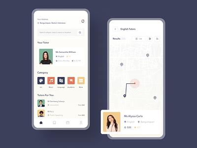 Tutor Finder App education app education teacher tutor finder tutor uiuxdesigner mobile app uiux mobile app design clean ui userinterface uiuxdesign uidesigner uidesign