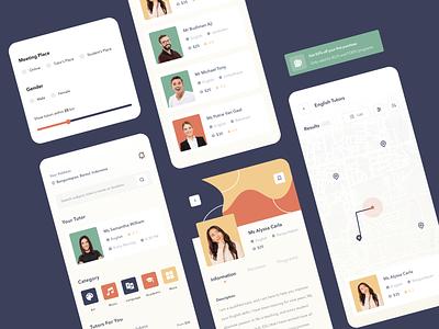 Tutor Finder App school education app tutor finder tutor mobile app uiux mobile app design clean ui userinterface uiuxdesign uidesigner uidesign