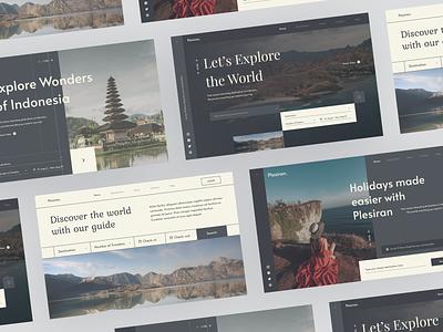 Layout Explorations - Travel Web Hero Section web layout layout travel travel website travel web webdesigner uiux webdesign clean ui userinterface uiuxdesign uidesigner uidesign