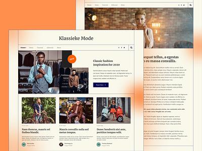 Blog Exploration - Klassieke Mode uiux webdesigner grid retro blog ui blog webdesign ui clean userinterface uiuxdesign uidesigner uidesign